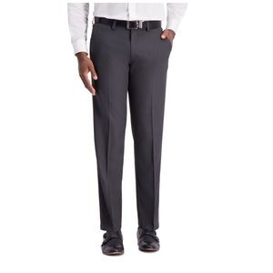 Haggar H26 Men's Straight Fit 4 Way Stretch Trouse